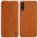 Nillkin Qin Book Case for Samsung Galaxy A30s/A50s Brown