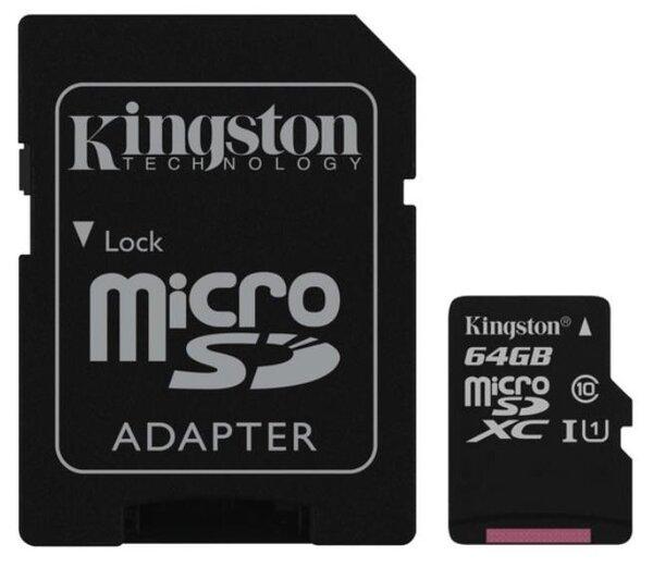 Kingston Canvas Select Micro SDXC Class 10 UHSI 80MBs 64GB