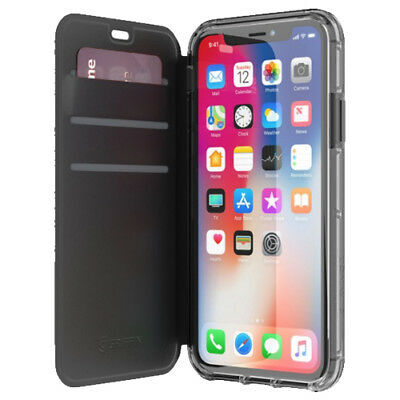 Griffin Reveal Wallet for iPhone X/XS - Black/Clear