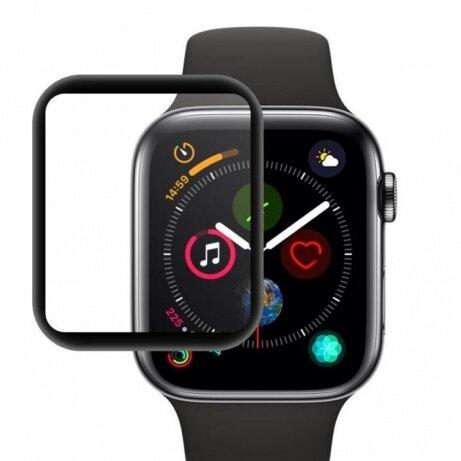 Mocolo 3D Tvrzené Sklo Black pro Apple Watch 44mm