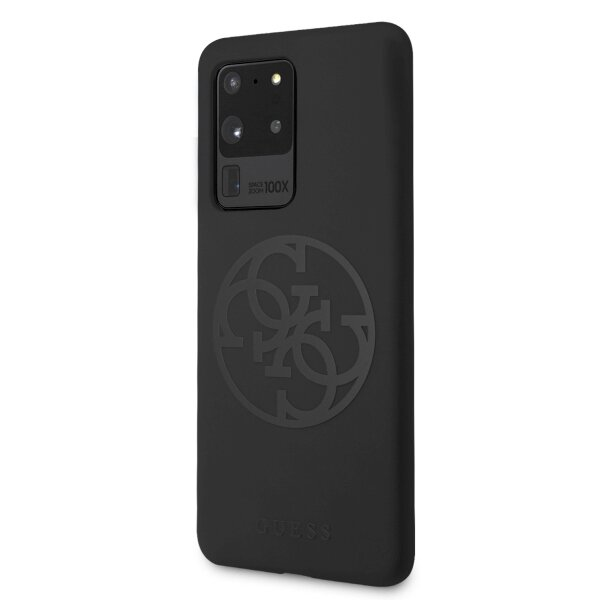 Guess GUHCS69LS4GBK S20 Ultra G988 black/czarny hard case Silicone 4G Tone On Tone