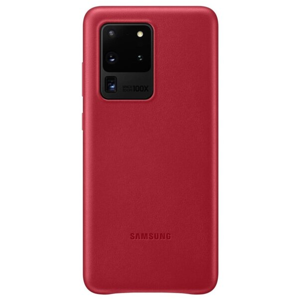 EF-VG988LRE Samsung Leather Cover for Galaxy S20 Ultra Red (EU Blister)