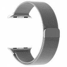 Tactical 338 Loop Magnetic Stainless Steel Band for iWatch 1/2/3 38mm Silver