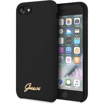 GUHCI8LSLMGBK Guess Retro Silicone Cover for iPhone 8/SE2020 Black