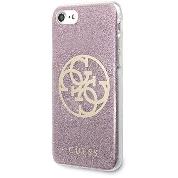 GUHCI8PCUGLPI Guess Glitter 4G Circle Cover for iPhone 8/SE2020 Pink
