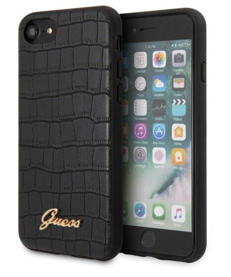 GUHCI8PCUMLCRBK Guess Croco Cover for iPhone 8/SE2020 Black (EU Blister)