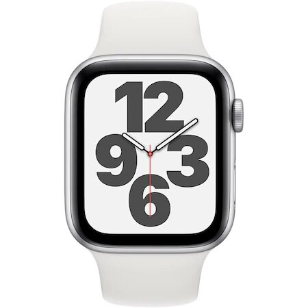 Смарт часовник Apple Watch SE, GPS, Корпус Silver Aluminium 40mm, White Sport Band