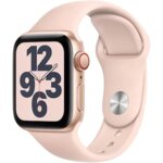 Apple Watch SE, GPS, Корпус Gold Aluminium 44mm, Pink Sand Sport Band