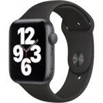 Apple Watch SE, GPS, Корпус Space Gray Aluminium 44mm, Black Sport Band