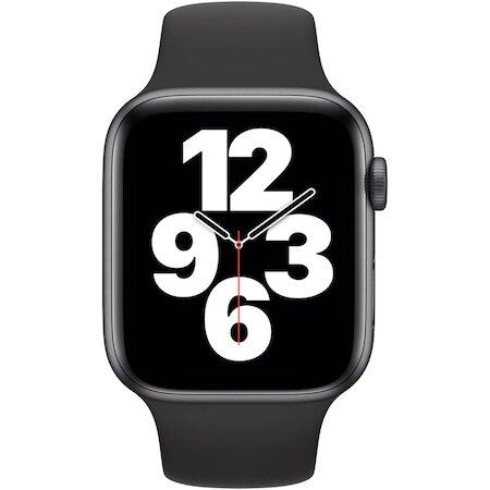 Смарт часовник Apple Watch SE, GPS, Корпус Space Gray Aluminium 44mm, Black Sport Band