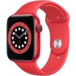 Apple Watch 6, GPS, Корпус Red Aluminium 44mm, Red Sport Band