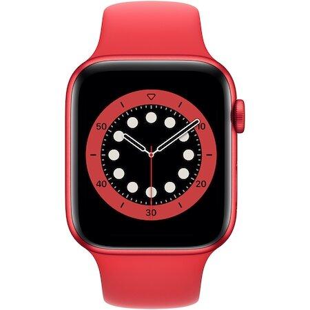 Смарт часовник Apple Watch 6, GPS, Корпус Red Aluminium 44mm, Red Sport Band