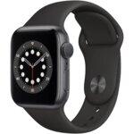 Apple Watch 6, GPS, Корпус Space Gray Aluminium 44mm, Black Sport Band