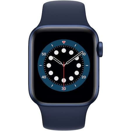 Смарт часовник Apple Watch 6, GPS, Корпус Blue Aluminium 40mm, Deep Navy Sport Band