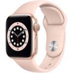 Apple Watch 6, GPS, Корпус Gold Aluminium 40mm, Pink Sand Sport Band