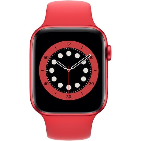 Смарт часовник Apple Watch 6, GPS, Корпус Red Aluminium 40mm, Red Sport Band