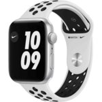 Apple Watch Nike SE, GPS, Корпус Silver Aluminium 44mm, Pure Platinum/Black Nike Sport Band