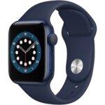 Apple Watch S6 GPS, 40mm Blue Aluminium Case with Deep Navy Sport Band - Regular