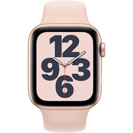 Смарт часовник Apple Watch SE GPS, 40mm Gold Aluminium Case with Pink Sand Sport Band - Regular