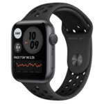 Apple Watch Nike Series 6 GPS, 44mm Space Grey Aluminium Case with Anthracite/Black Nike Sport Band