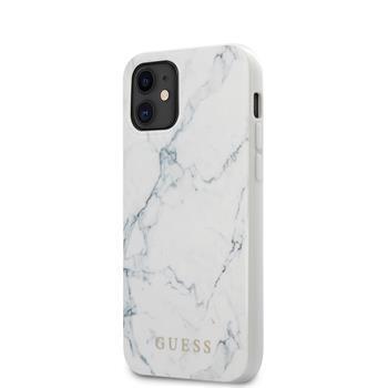 Калъф от Guess PC/TPU Marble Cover за iPhone 12 mini  White