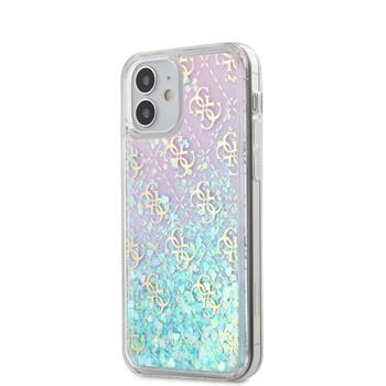 Калъф от Guess 4G Liquid Glitter Cover за iPhone 12 mini Iridescent