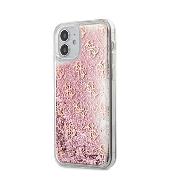 Калъф от Guess 4G Liquid Glitter Cover за iPhone 12 mini 5.4 Pink