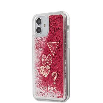 Калъф от Guess Liquid Glitter Charms Cover за iPhone 12 mini 5.4 Raspberry