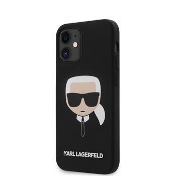 Калъф от Karl Lagerfeld Head Silicone Cover за iPhone 12 mini 5.4 Black