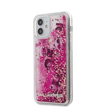 Калъф от Karl Lagerfeld Liquid Glitter Charms Cover за iPhone 12 mini 5.4 Pink