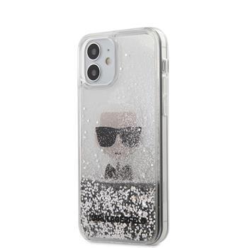 Калъф от Karl Lagerfeld Liquid Glitter Iconic Cover за iPhone 12 mini 5.4 Silver