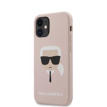 Калъф от Karl Lagerfeld Head Silicone Cover за iPhone 12 mini 5.4 Light Pink