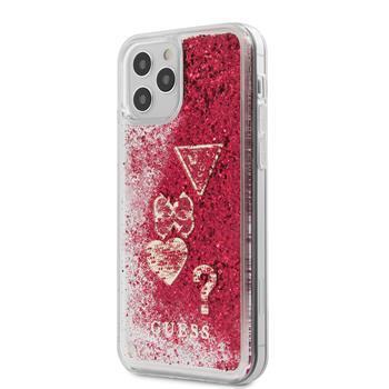 Калъф от Guess Liquid Glitter Charms Cover за iPhone 12 Pro Max 6.7 Raspberry