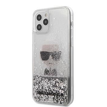 Калъф от Karl Lagerfeld Liquid Glitter Iconic Kryt pro за iPhone 12 Pro Max 6.7 Silver