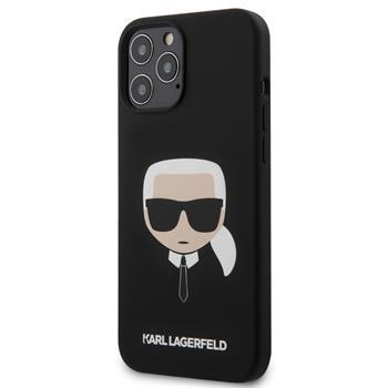 Калъф от Karl Lagerfeld Head Silicone Cover за iPhone 12 Pro Max 6.7 Black