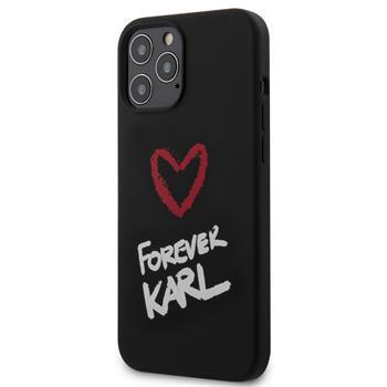 Калъф от Karl Lagerfeld Forever Silicone Cover за iPhone 12 Pro Max 6.7 Black