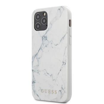 Калъф от Guess PC/TPU Marble Cover за iPhone 12/12 Pro 6.1 White