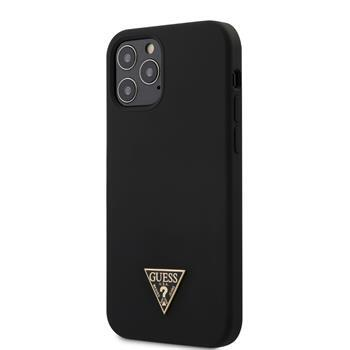 Калъф от  Guess Silicone Metal Triangle Cover за iPhone 12/12 Pro 6.1 Black