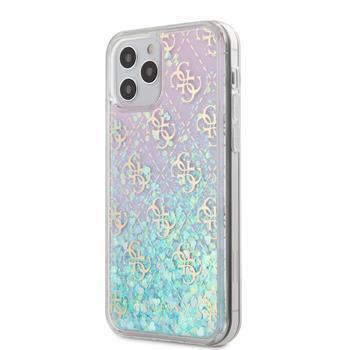 Калъф от Guess 4G Liquid Glitter Cover за iPhone 12/12 Pro 6.1 Iridescent