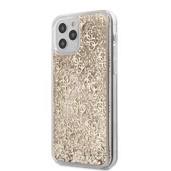Калъф от Guess 4G Liquid Glitter Cover за iPhone 12/12 Pro 6.1 Gold
