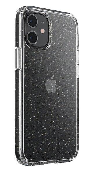 Калъф от Speck за iPhone 12 mini PRESIDIO PERF-CLEAR W/GLITTER - CLEAR W/GOLD GLTR/CLR