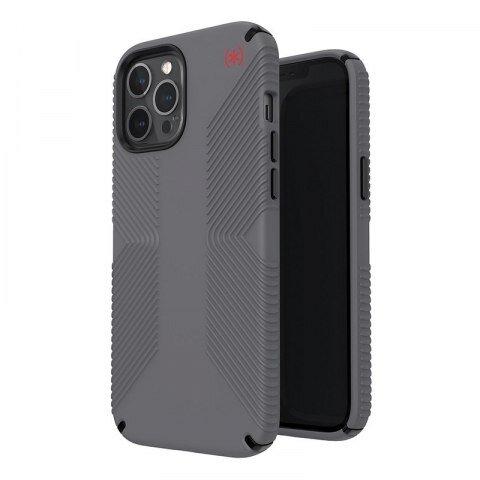 Калъф от Speck за iPhone 12 Pro Max PRESIDIO2 GRIP - GRAPHITE GREY/GRAPHITE GREY/BOLD RED