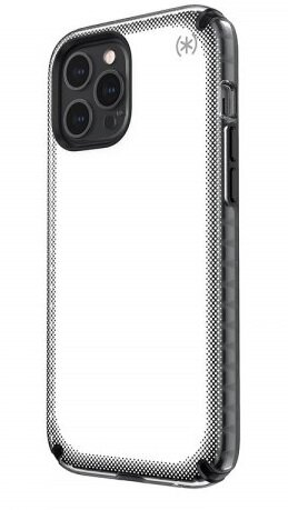 Калъф от Speck за iPhone 12 Pro Max PRESIDIO2 ARMOR CLOUD - CLEAR/BLACK/WHITE