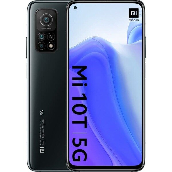 Смартфон Xiaomi Mi 10T, 128GB, 6GB RAM, Cosmic Black