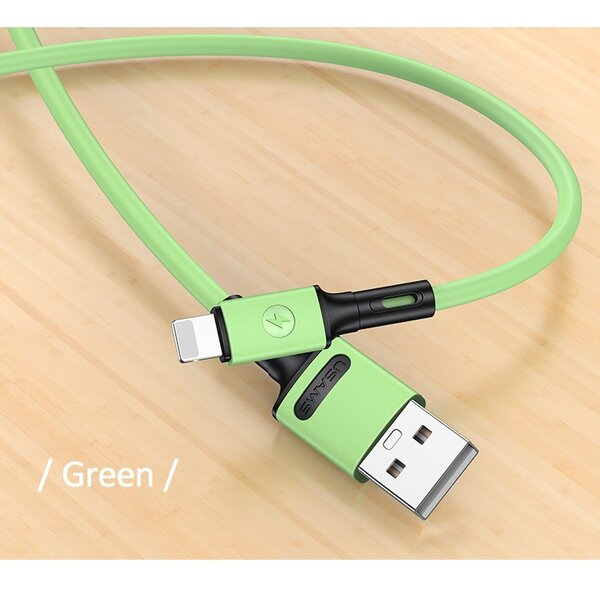 Дата Кабел USAMS U52 lightning 2A Fast Charge 1m green SJ434USB02