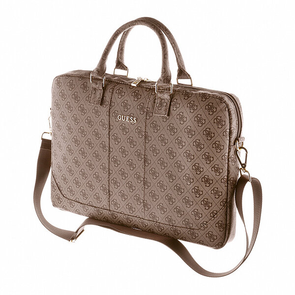 """Калъф Guess 4G UpTown Computer Bag 15"""" Brown"""