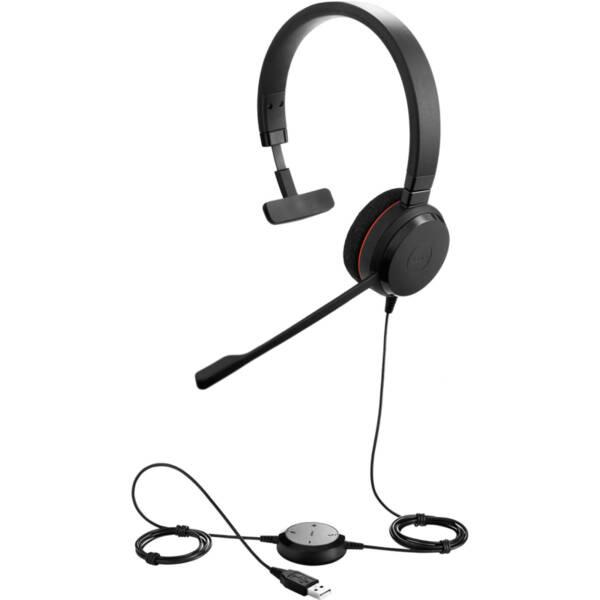 Jabra Evolve 20 Headphones Black