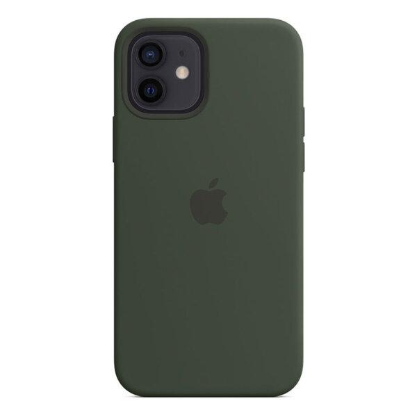 Силиконов Калъф от Apple за iPhone 12/12 Pro с MagSafe - Cypress Green (Seasonal Fall 2020)