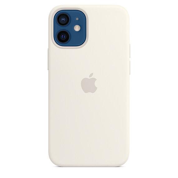 Силиконов Калъф от Apple за iPhone 12 mini с MagSafe - White