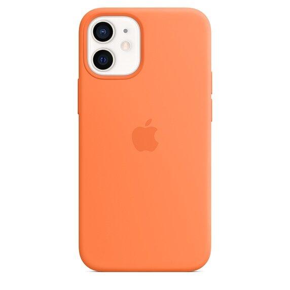 Силиконов Калъф от Apple за iPhone 12 mini с MagSafe - Kumquat (Seasonal Fall 2020)